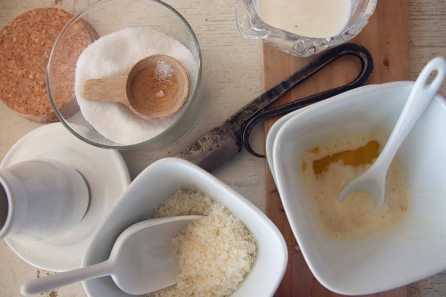 Parmesan und flüssige Butter