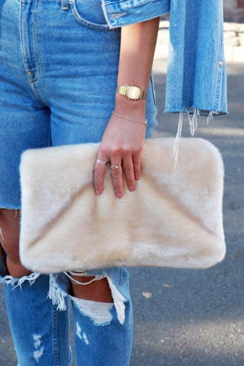 Echte Fake Fur-Tasche