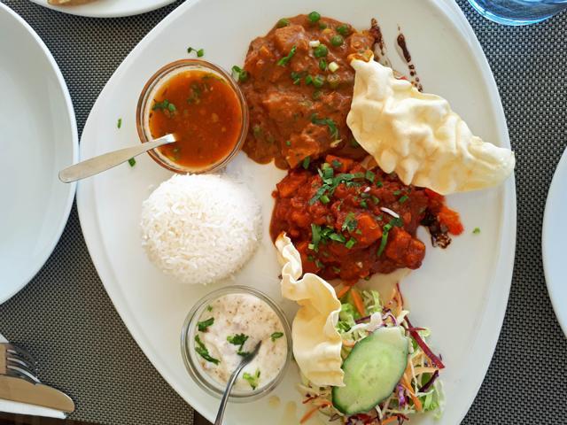 Indisches Mittagessen auf Mauritius