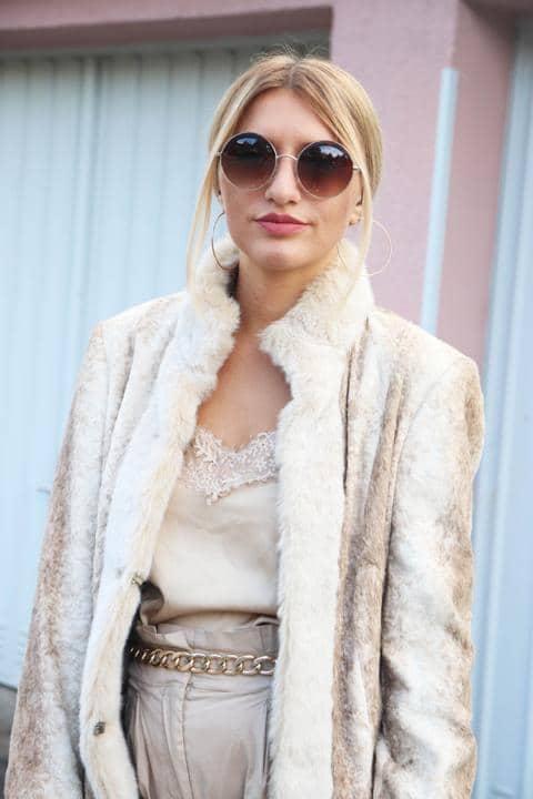 Dieser Fake Fur-Style ist eine runde Sache